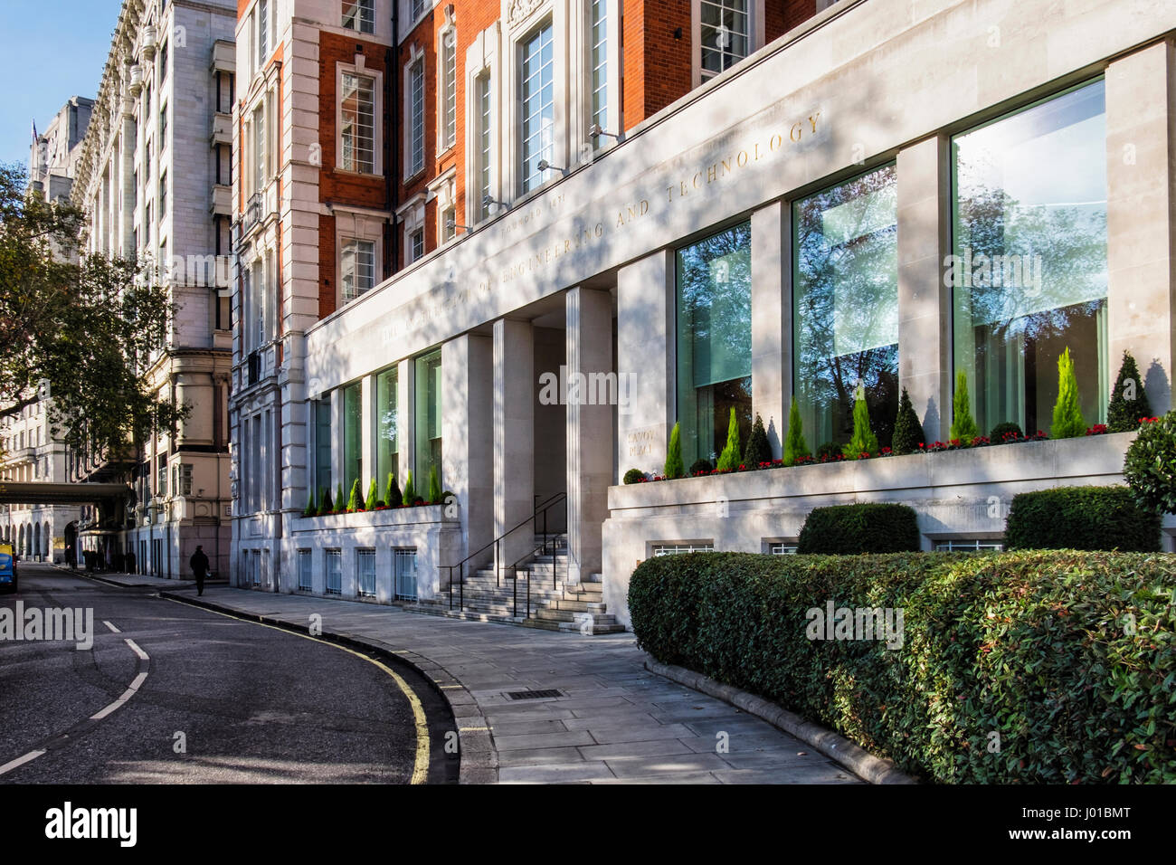 The Institute Of Engineering and Technology Headquarters, Savoy Place,London,UK. Historic red and brick stone building - Stock Image