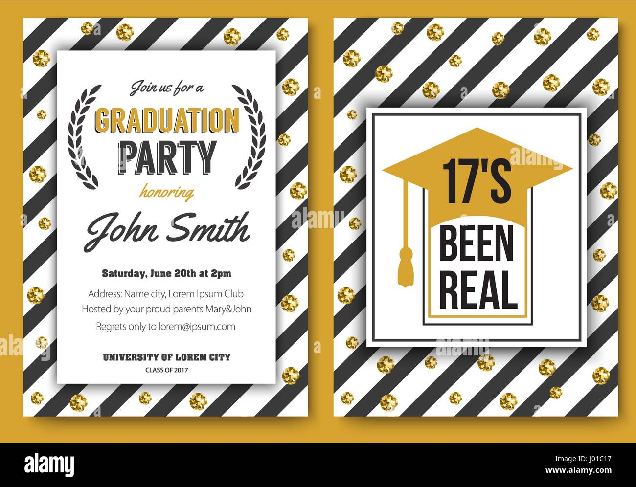High school student stock vector images alamy graduation party vector template invitation stock vector stopboris Images