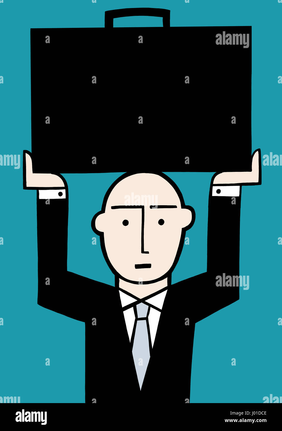 Lets be brief. A business illustration about heavy work loads.Stock Photo