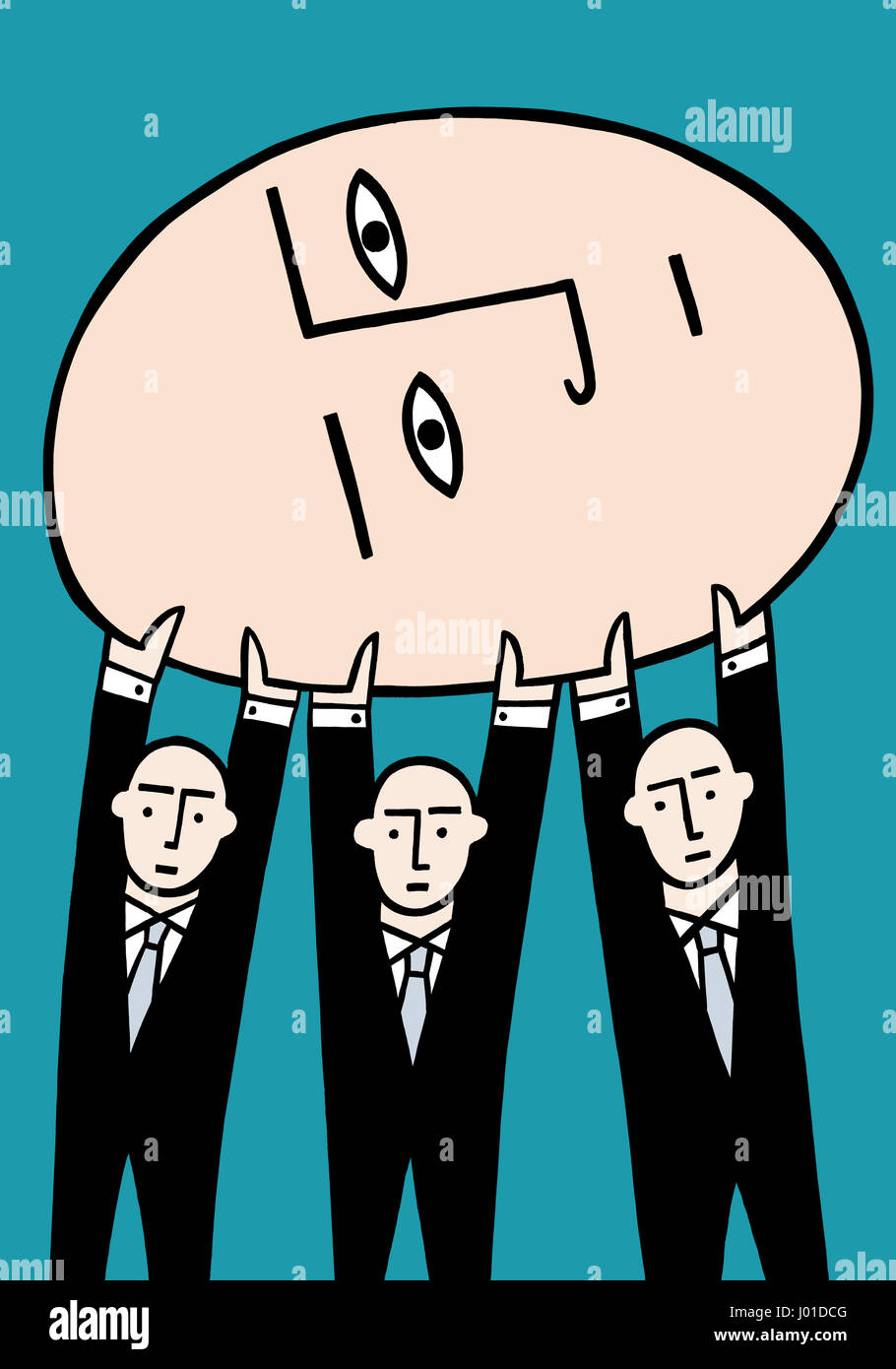 We can do it together. A business illustration about team work.Stock Photo