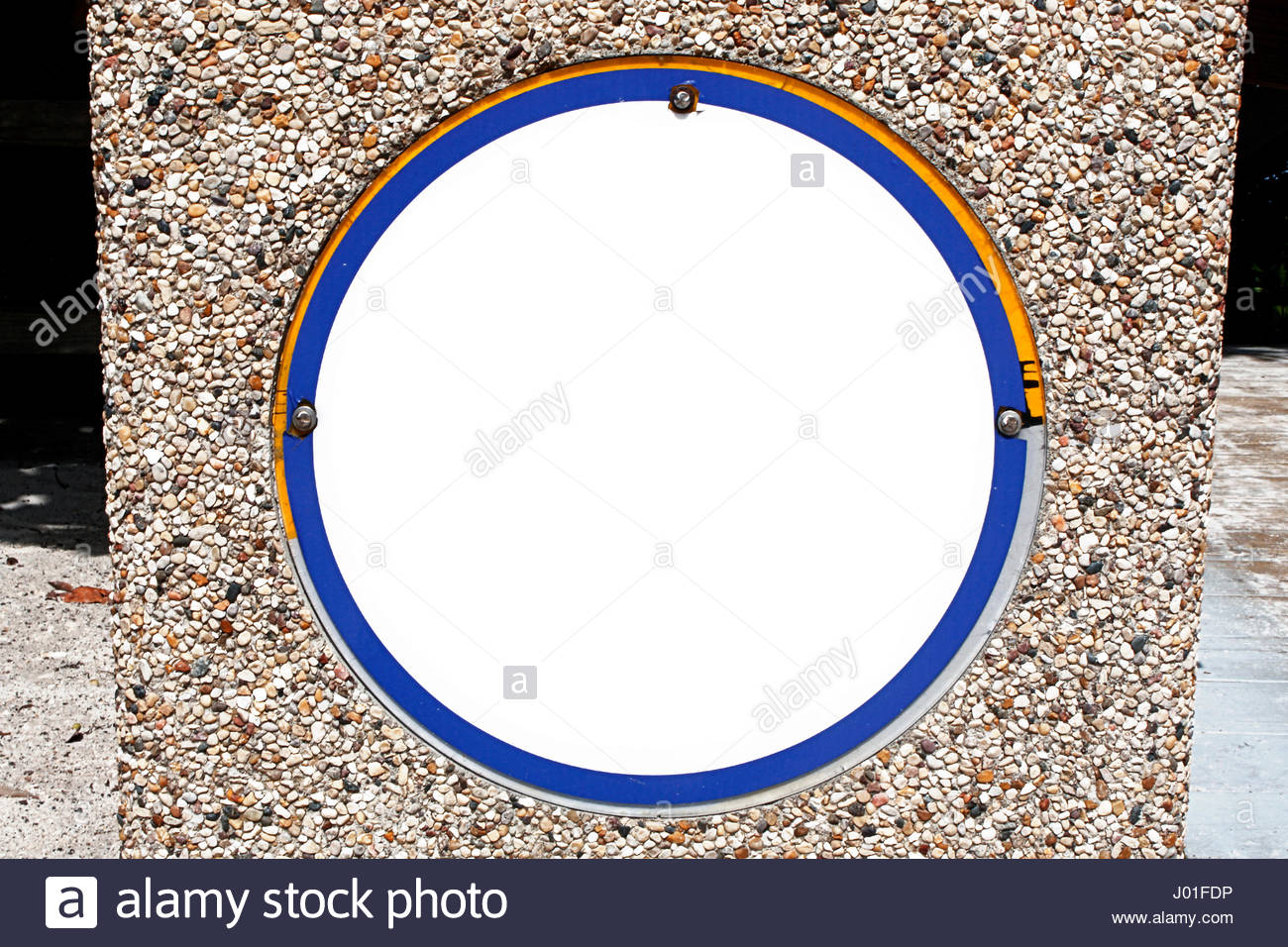 trash can stone rocks material - Stock Image