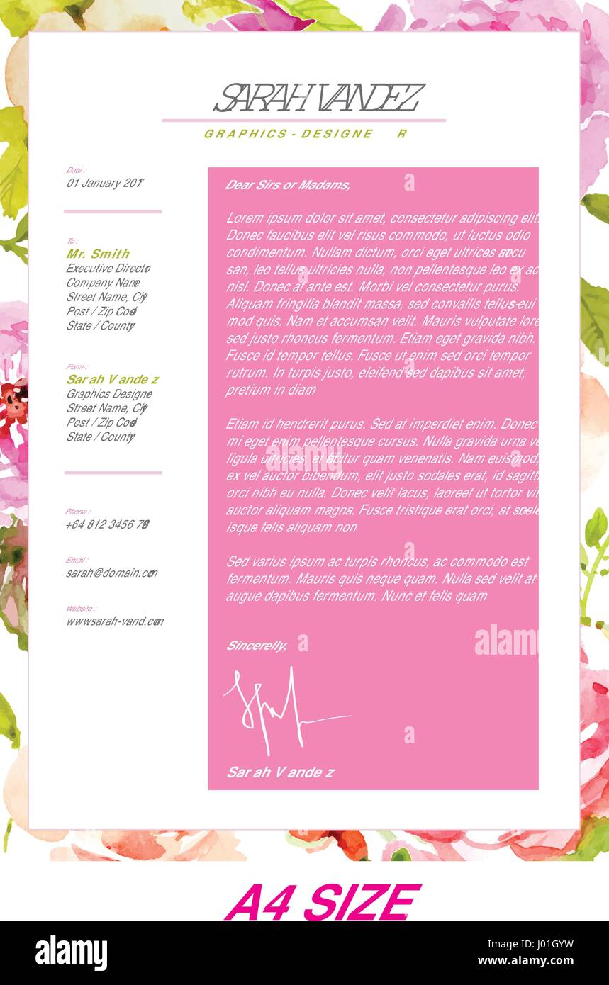 Floral Resume, is a Simple Resume & Cover Letter nuanced nature ...