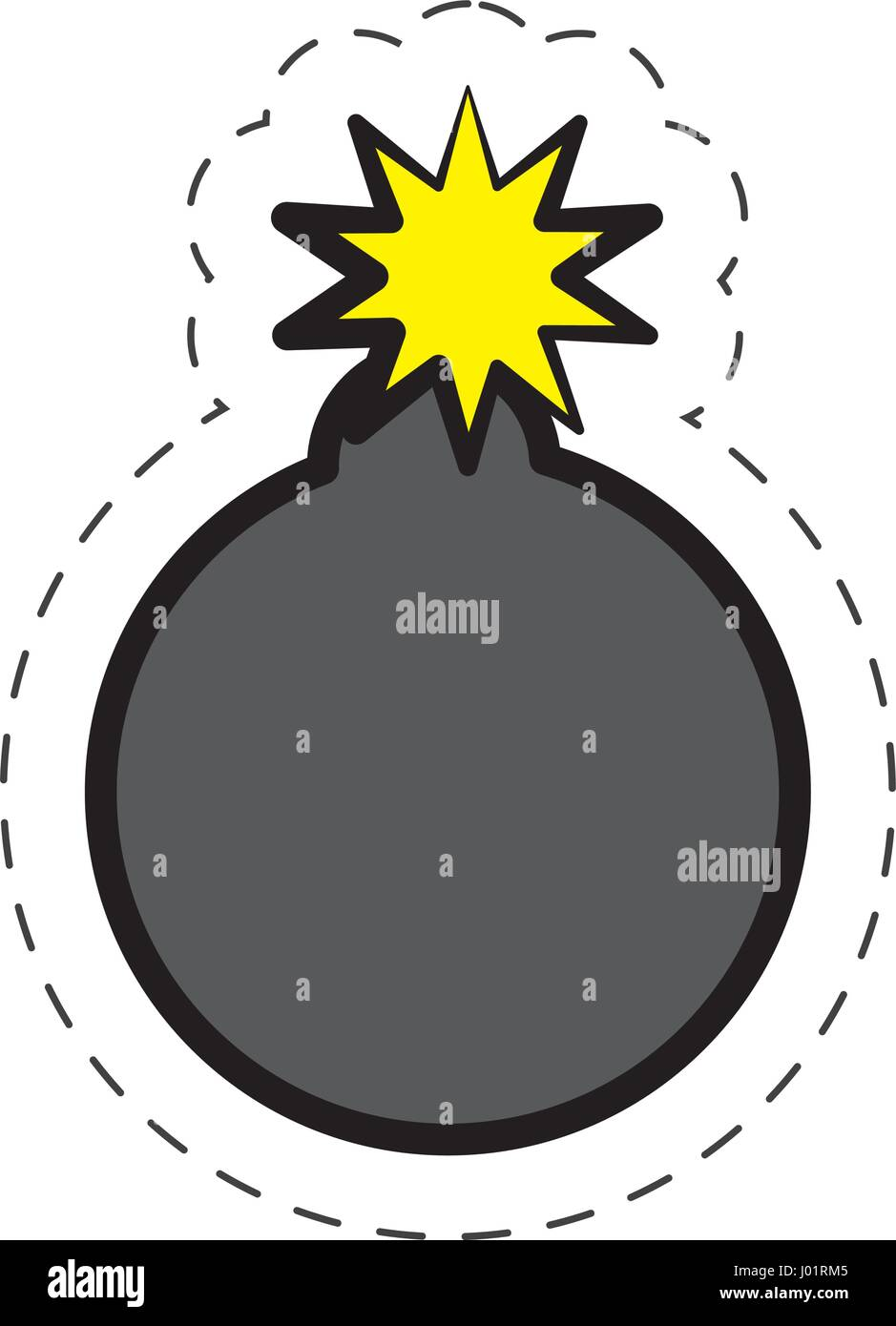 comic bomb explotion symbol Stock Vector