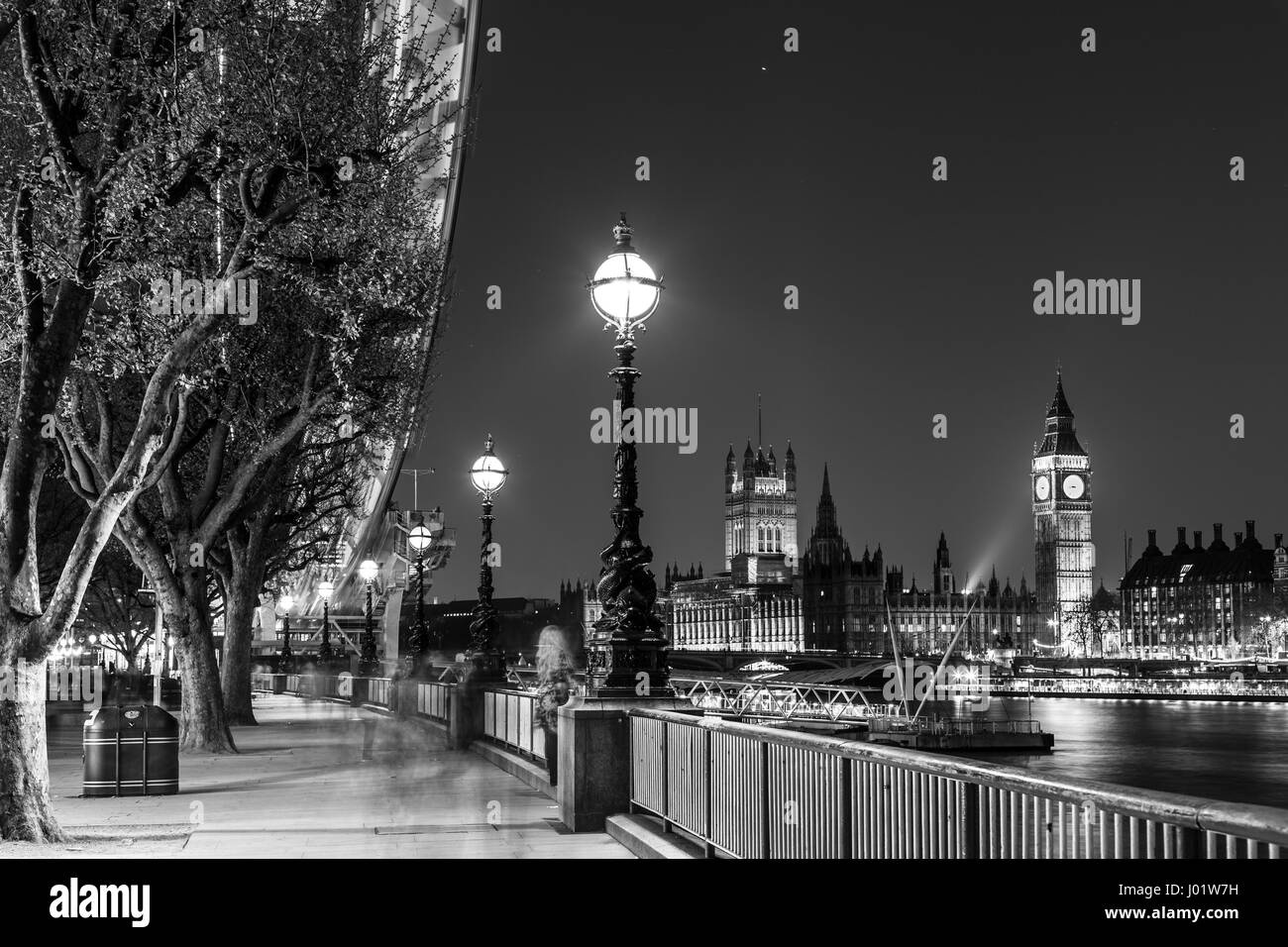 London Eye, Big Ben and Houses of parliament in London, UK. - Stock Image