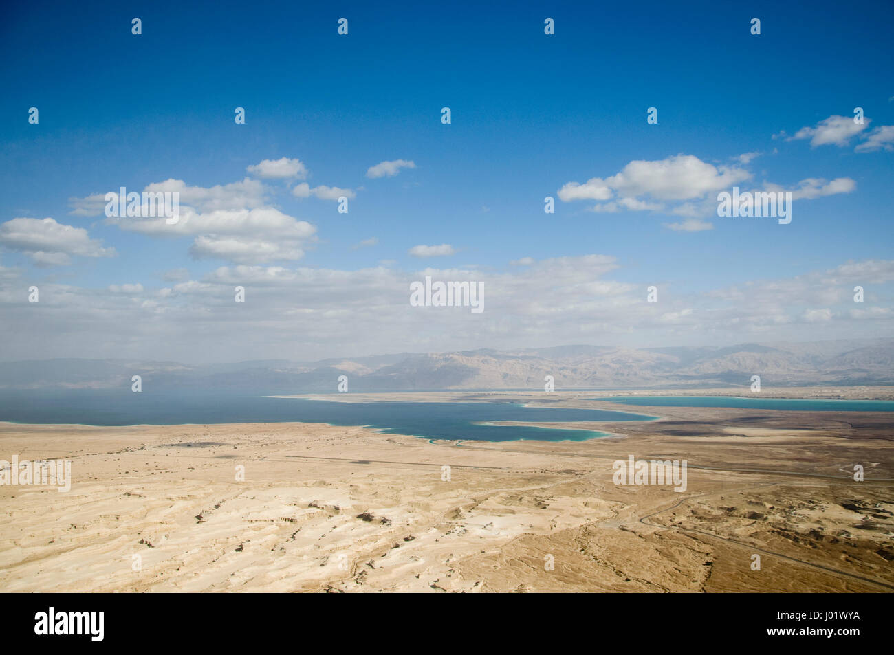 View from Massada onto the dead sea (Israel) - Stock Image
