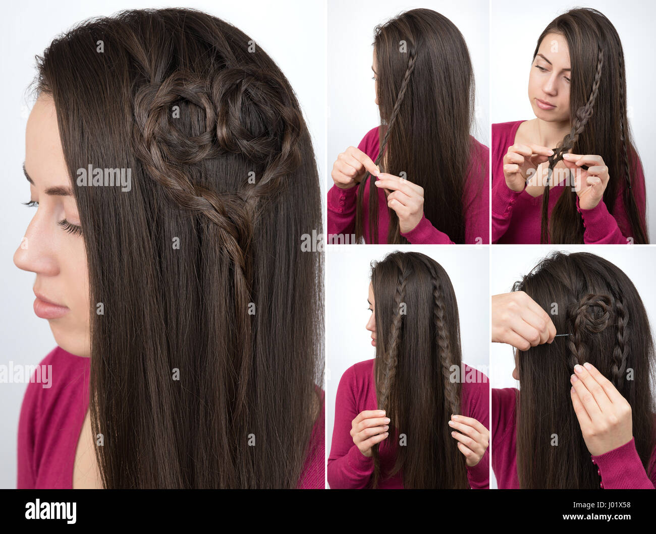 Simple Hairstyle Braided Heart Tutorial Step By Step