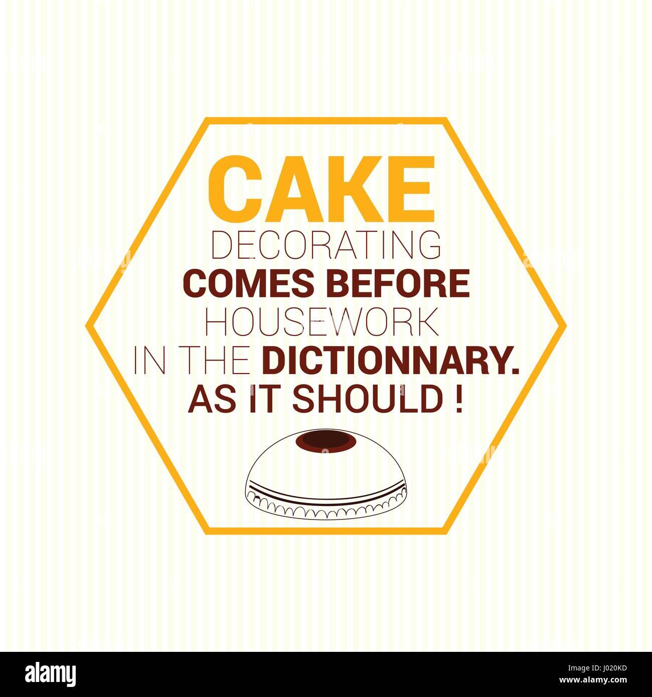 typographic illustration cake - Stock Vector