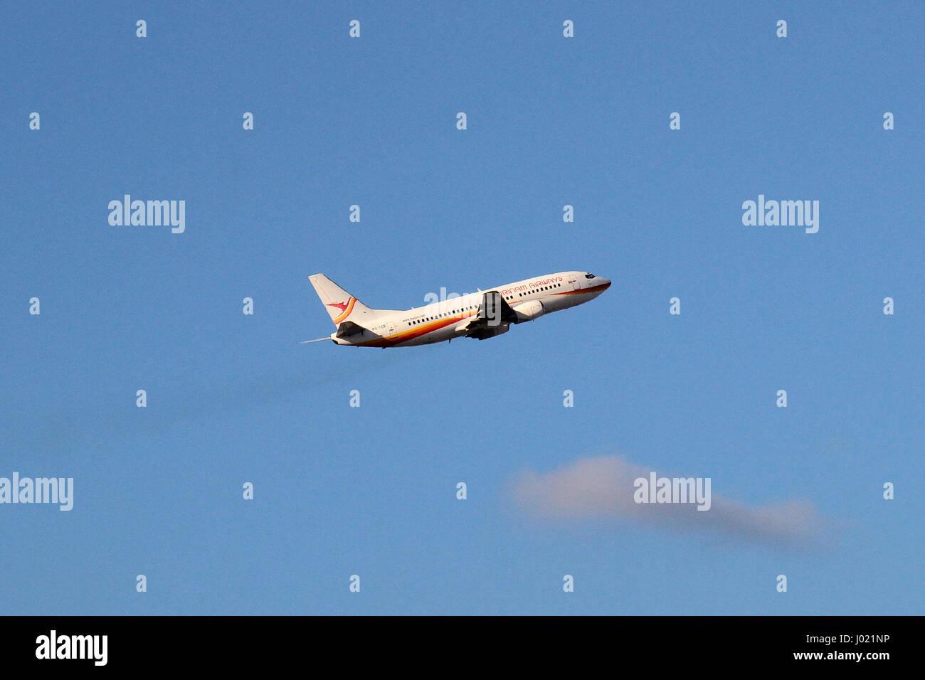 Surinam Airways Boeing 737-300 PZ-TCO - Stock Image