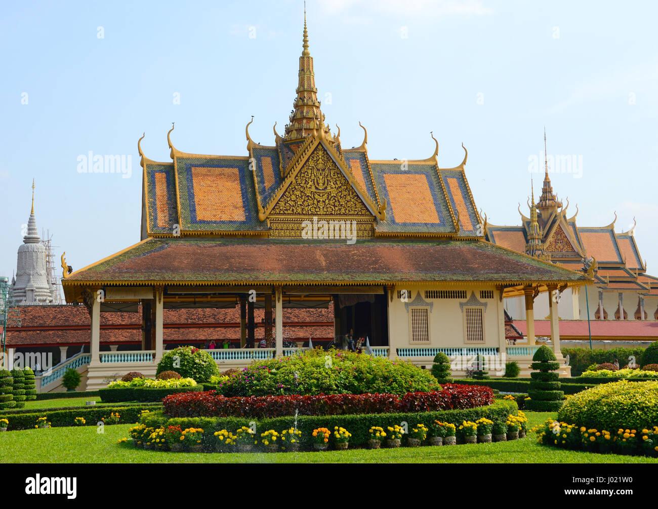 Royal Palace of Cambodia, Phnom Penh - Stock Image