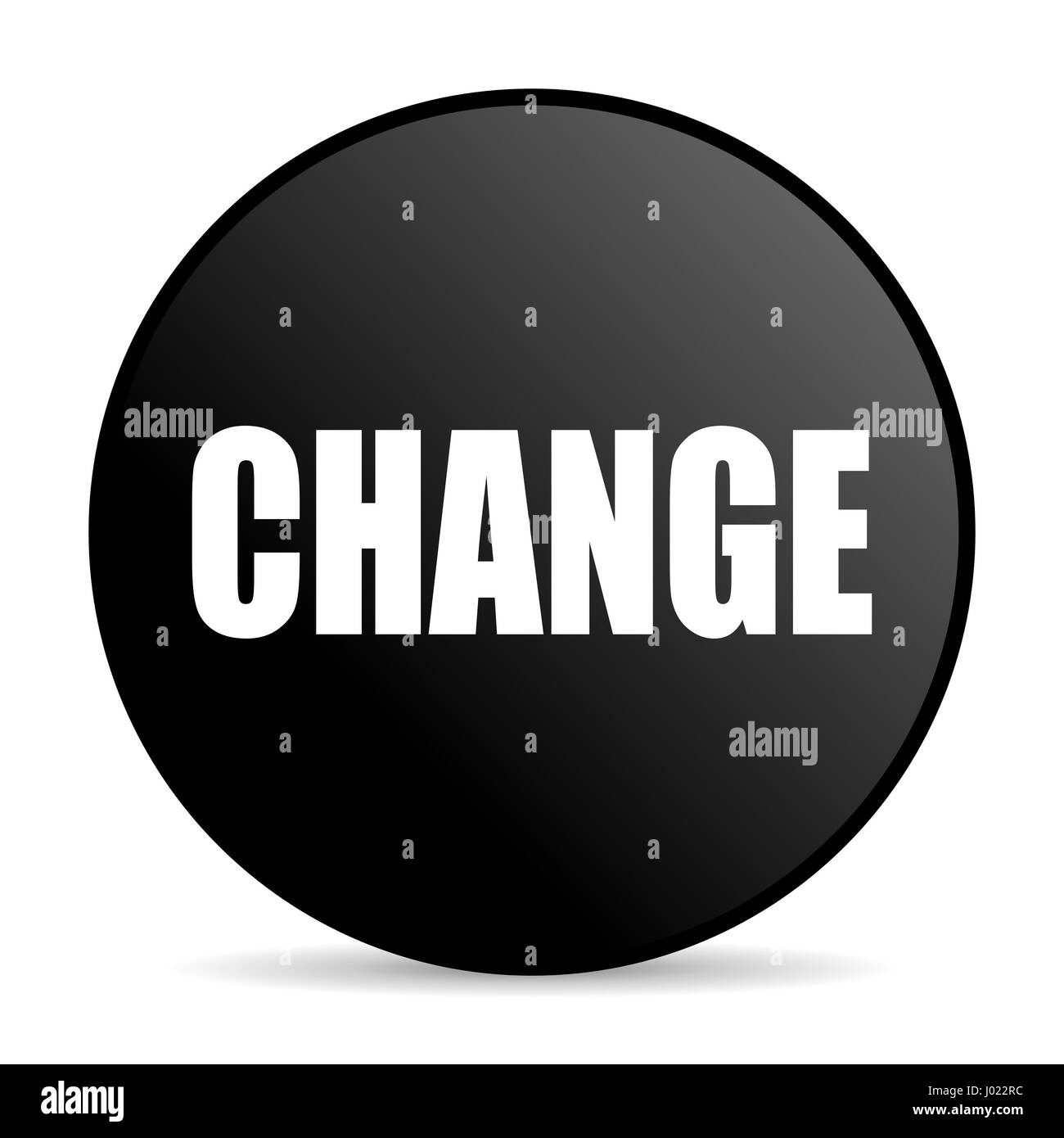 Change black color web design round internet icon on white background