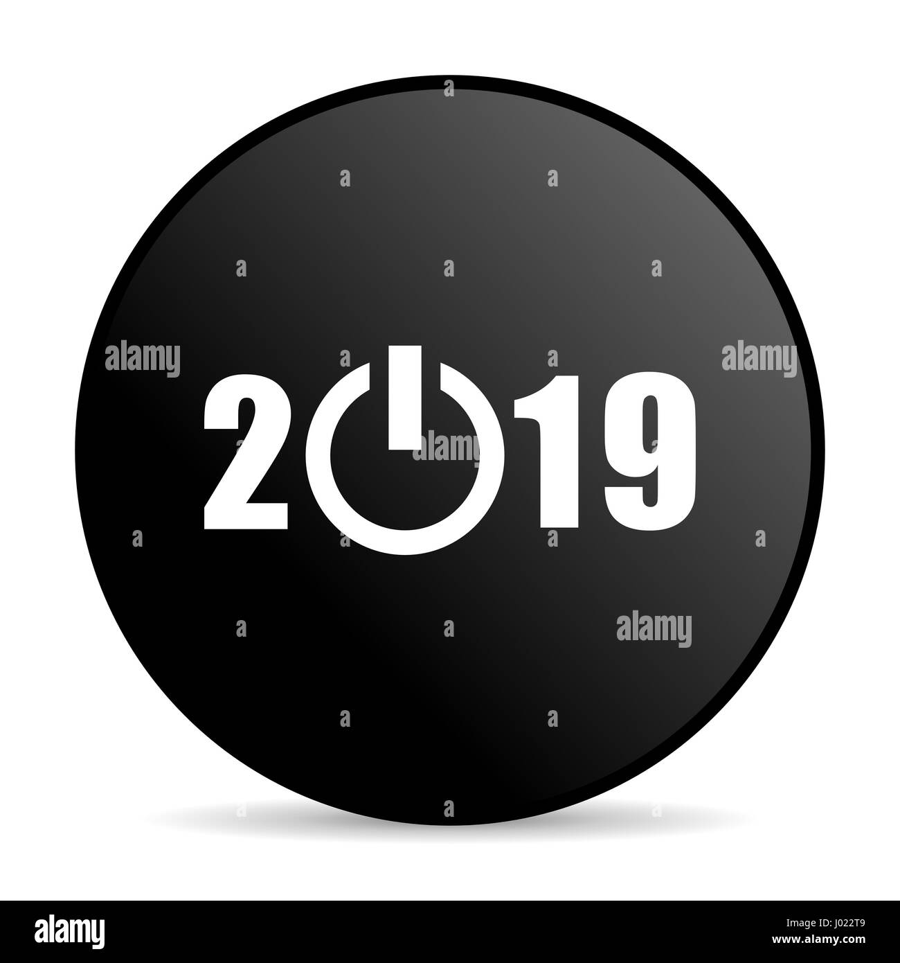 New year 2019 black color stock photos new year 2019 - New year 2019 color ...