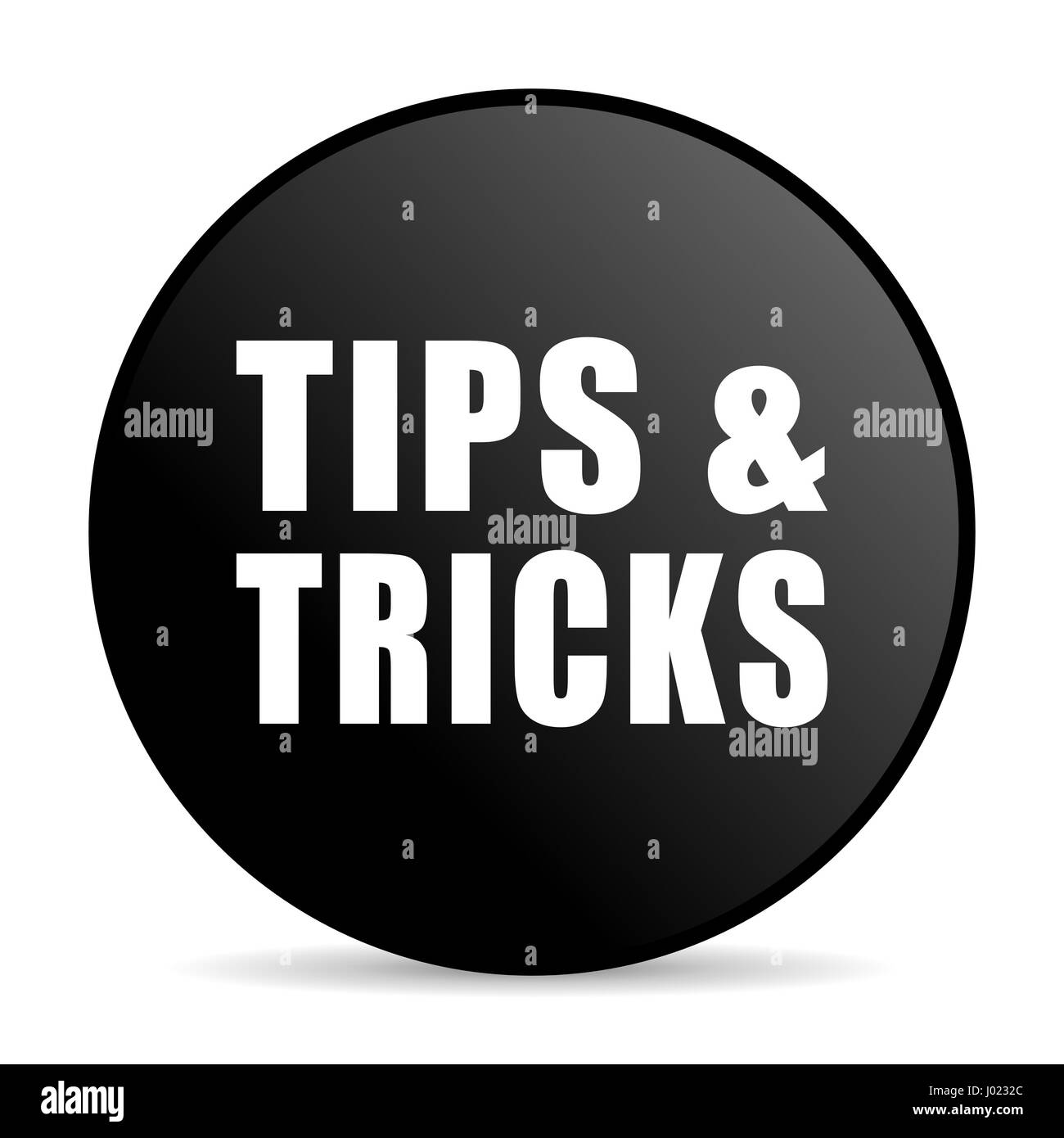 Tips Tricks Black Color Web Design Round Internet Icon On White Stock Photo Alamy