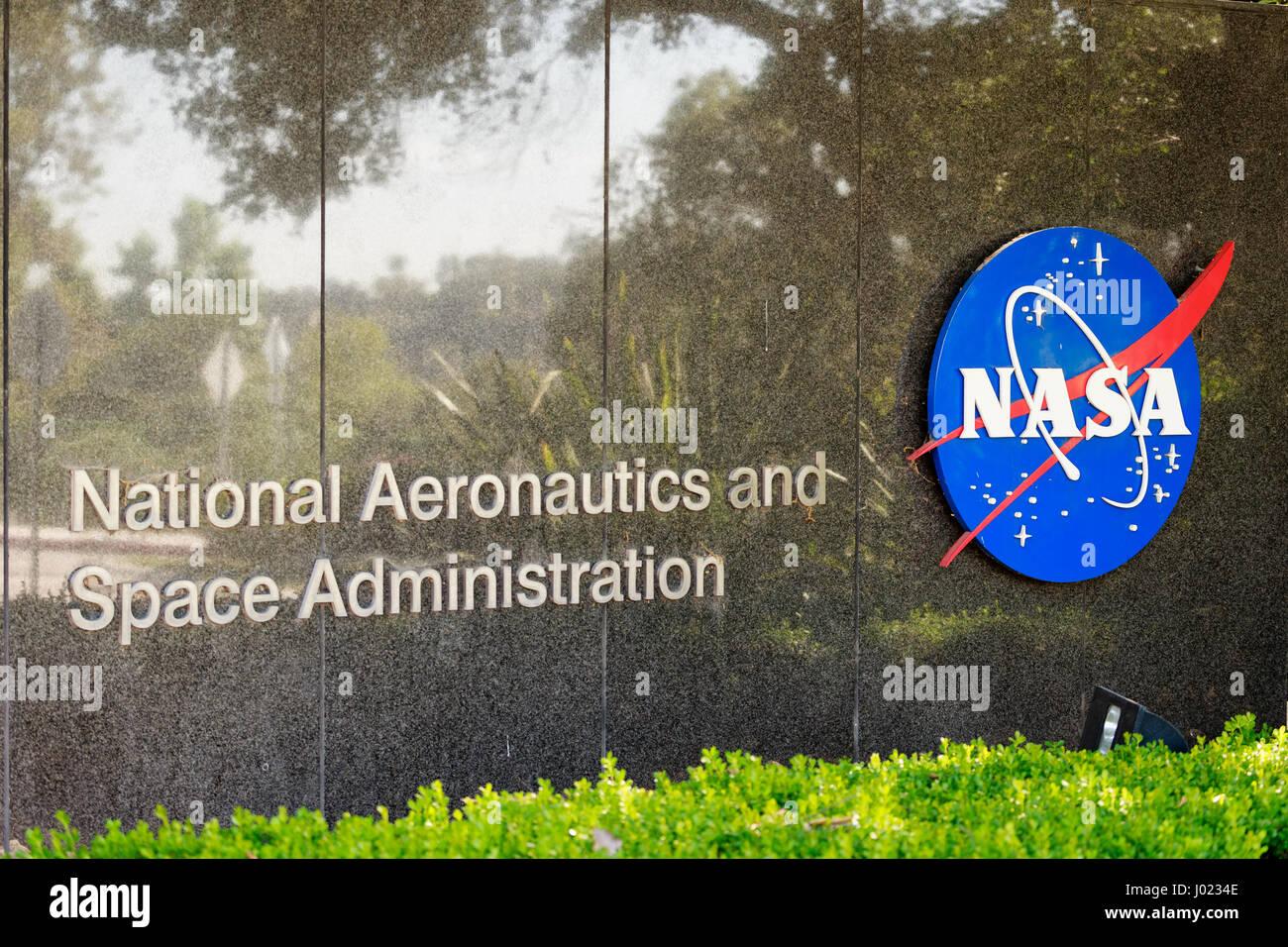 The entrance to NASA's Jet Propulsion Laboratory in La Canada (USA) - Stock Image
