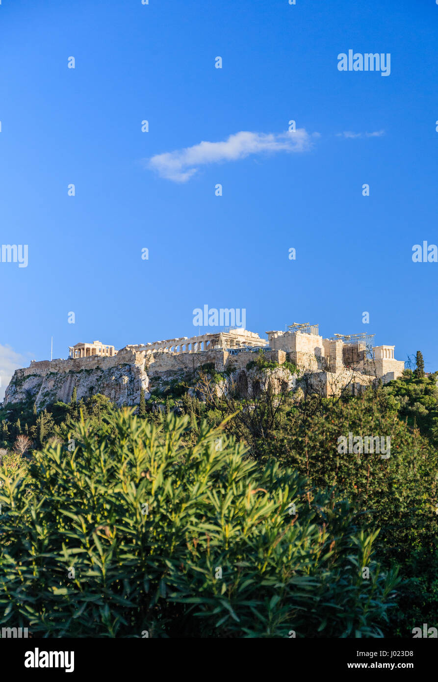 Cloud over the Acropolis in Athens (Greece) Stock Photo