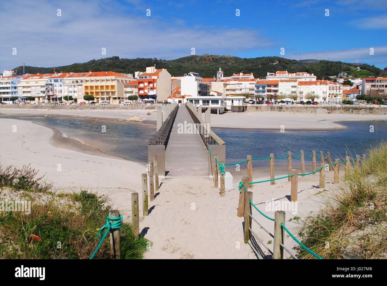 Vila Praia de Âncora bridge - Stock Image