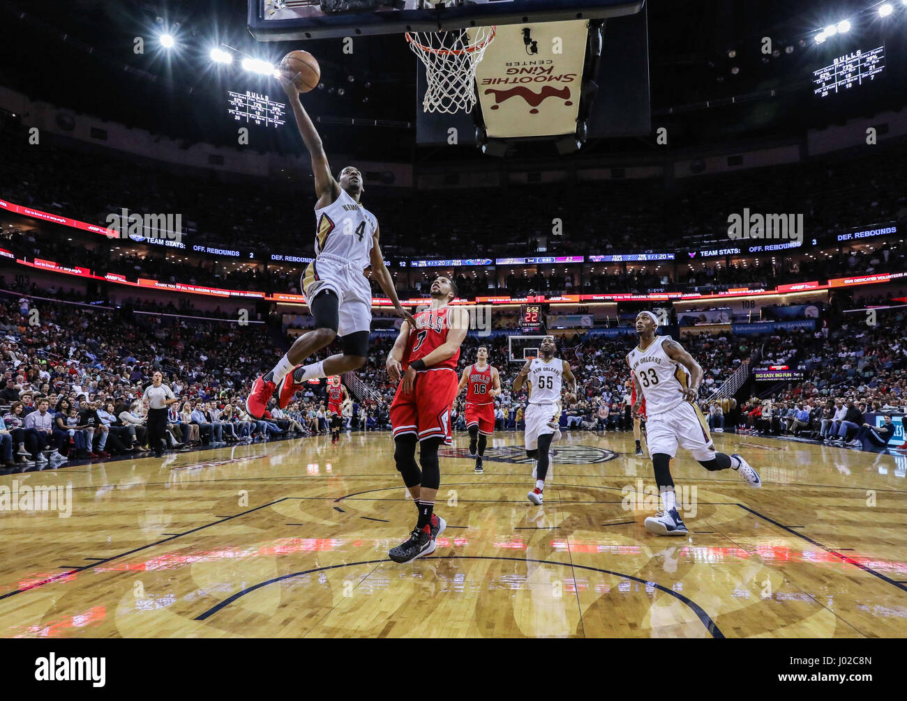 April 2 2017 New Orleans Pelicans Guard Jordan Crawford