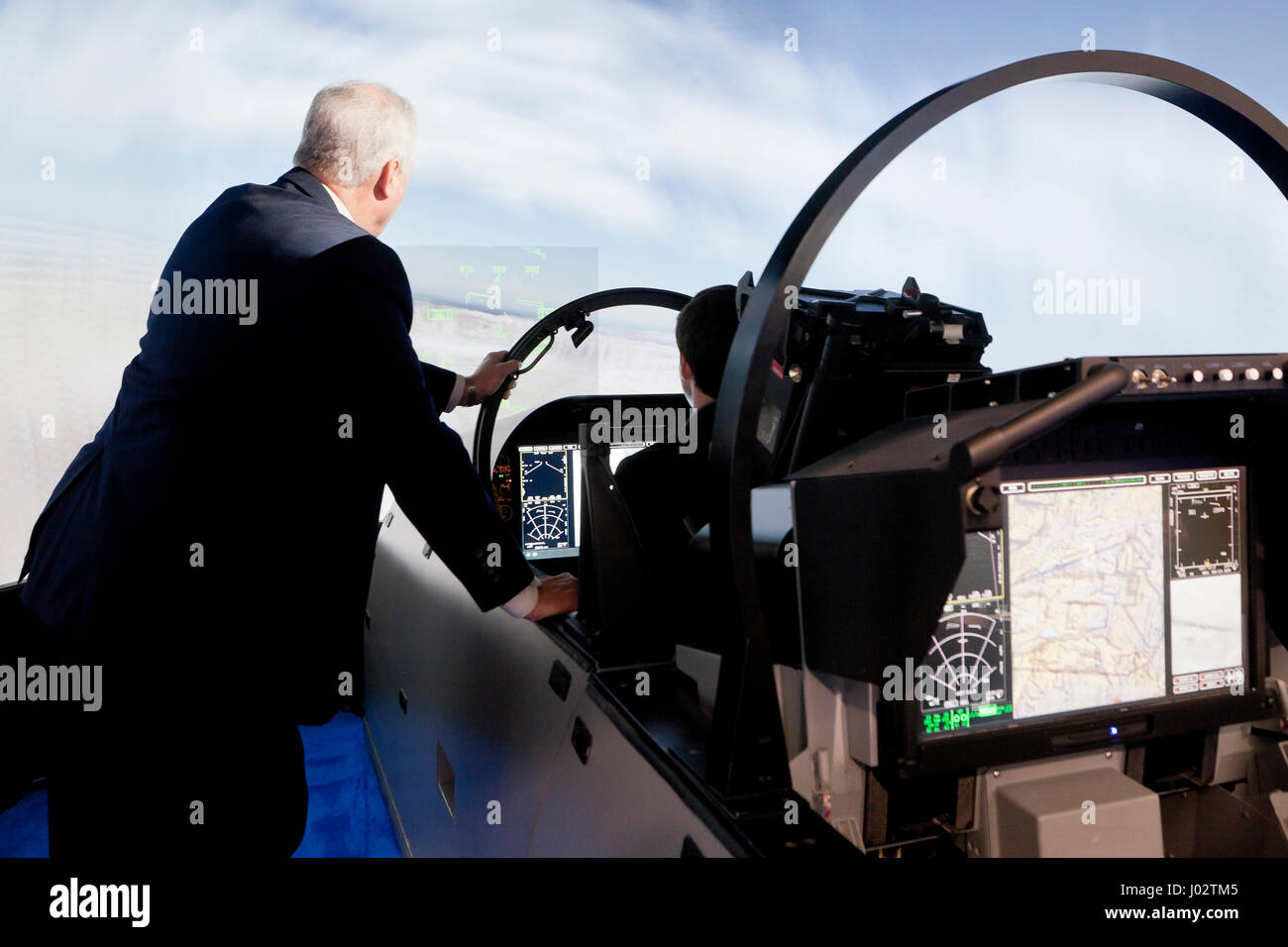 Boeing fighter jet flight simulator - USA Stock Photo