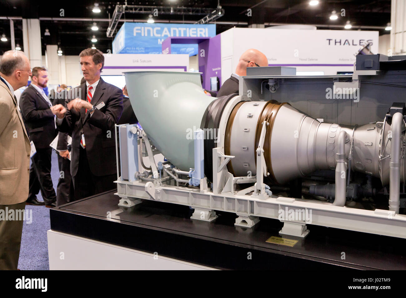 Rolls Royce exhib booth at Sea Air Space expo - Washington, DC USA - Stock Image