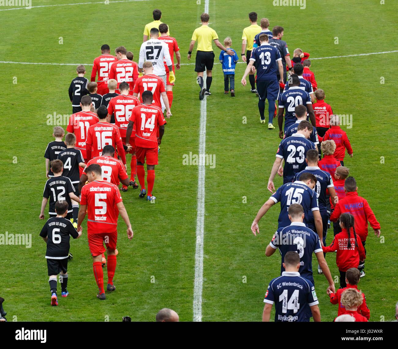 sports, football, Regional League West, 2016/2017, Rot Weiss Oberhausen vs SC Wiedenbrueck 2000 3:1, Stadium Niederrhein - Stock Image