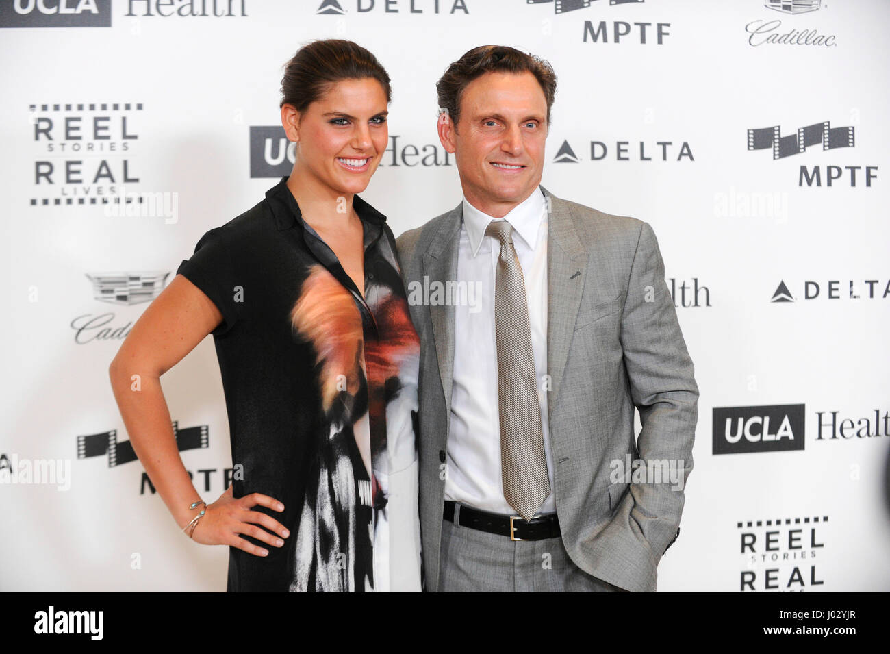 Anna Musky-Goldwyn (L) and actor Tony Goldwyn attend the 4th Annual 'Reel Stories, Real Lives', benefiting - Stock Image