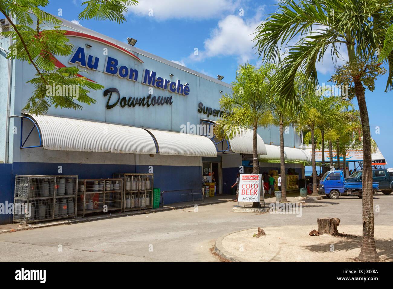 Au Bon Marche Supermarket, Port Vila, Efate Island, Vanuatu Stock Photo