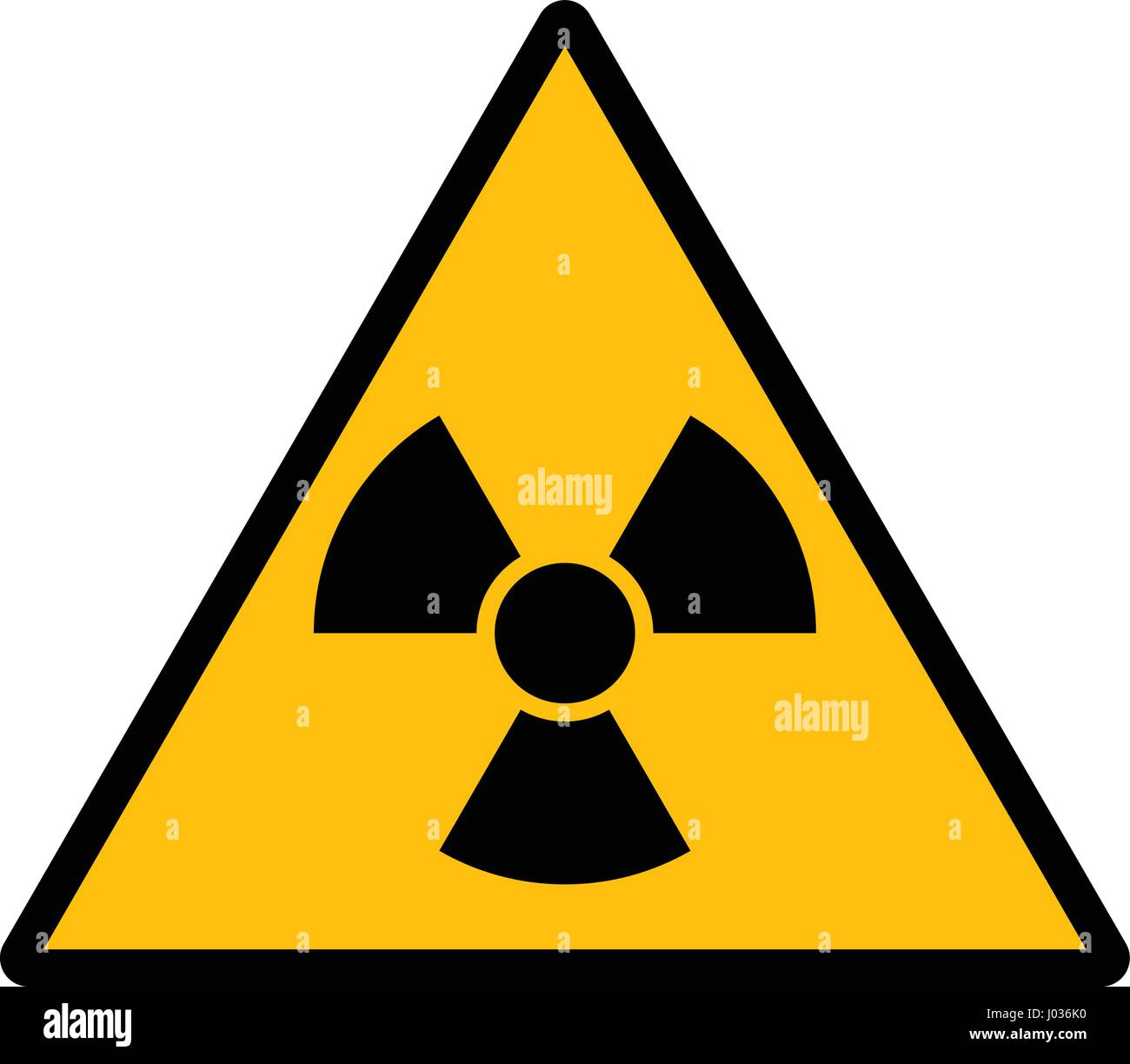 The radiation sign vector design isolated on white background - Stock Image