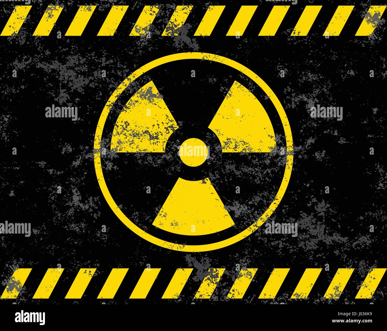Warning sign. Radiation background radiation. Vector illustrator - Stock Image