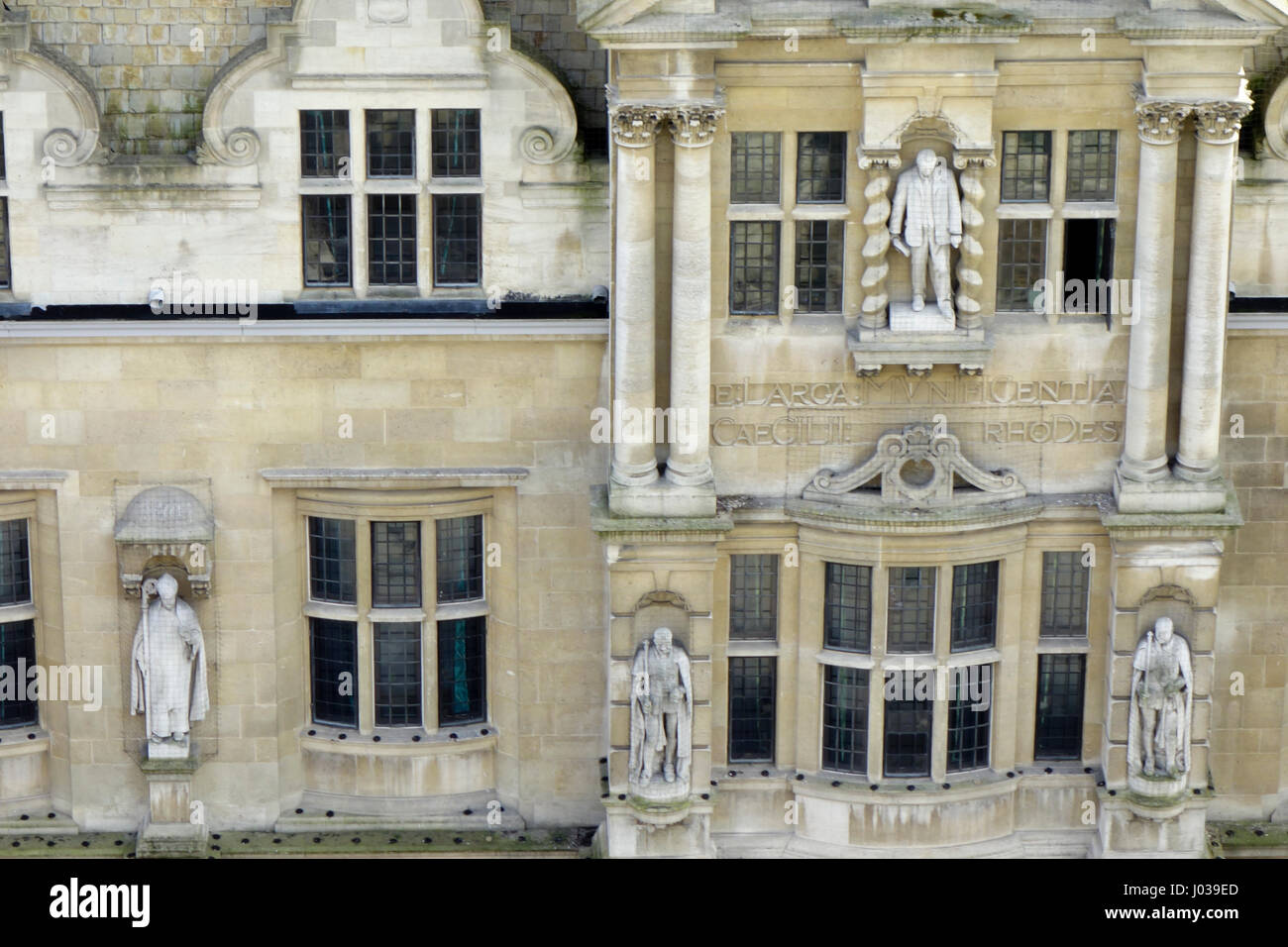 Oriel College Statues - Stock Image