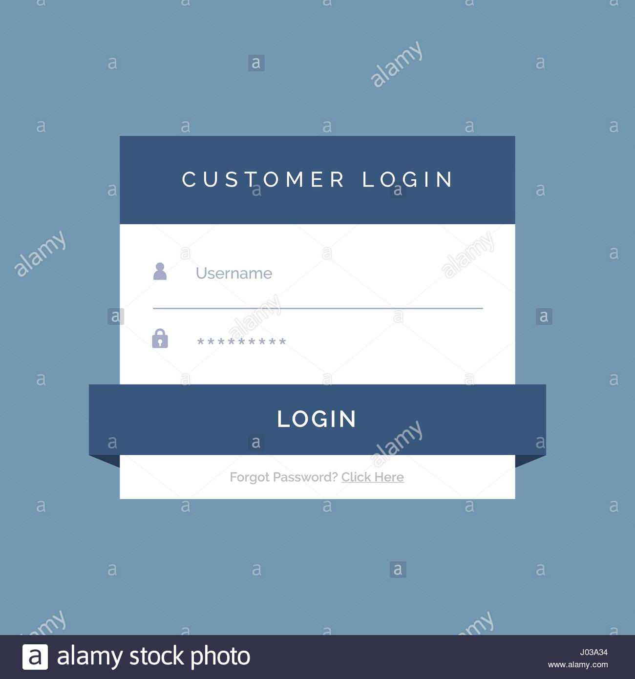 order form background design  flat login form design on blue background Stock Vector Art ...