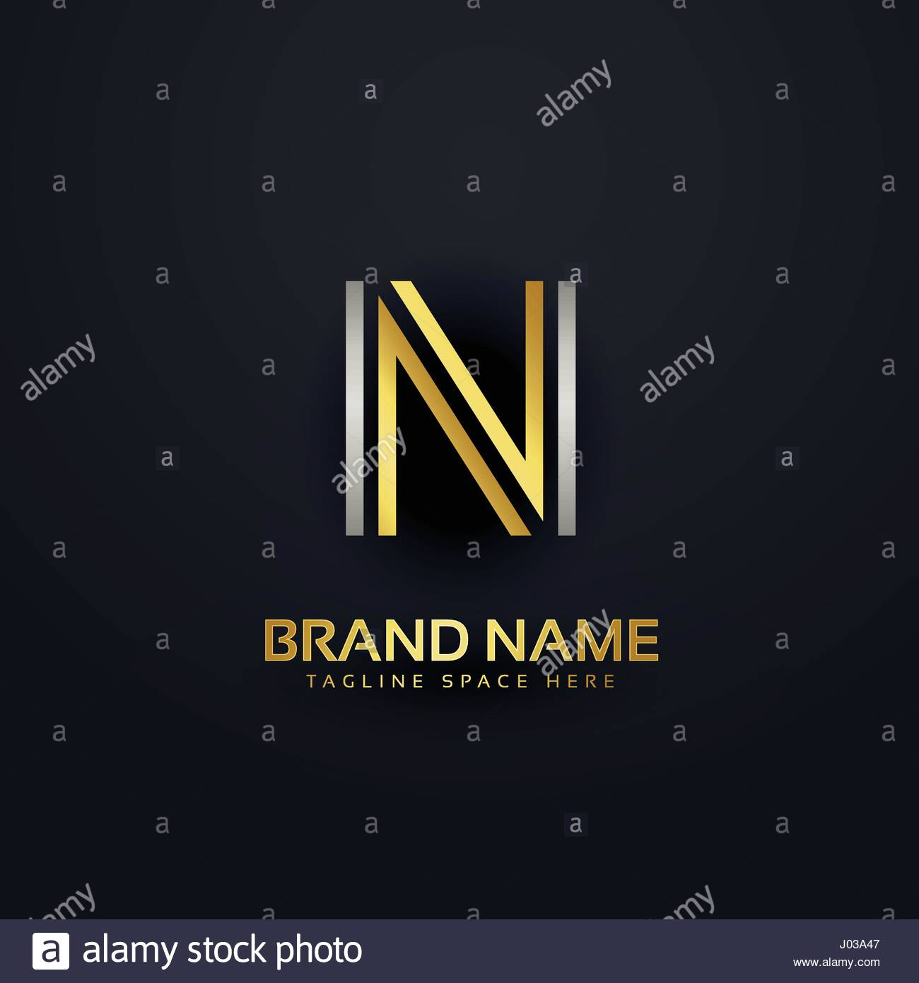 Creative Letter N Logo Design Template Stock Vector Art