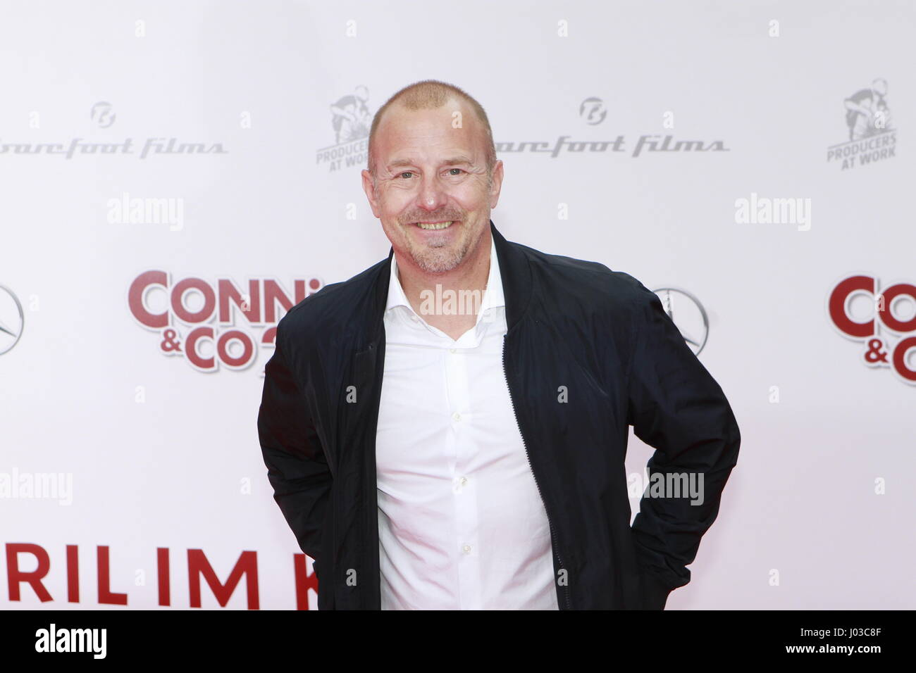 Berlin, Germany. 09th Apr, 2017. Actor Heino Ferch on the red carpet to the world premiere of the Kinofilms Conni - Stock Image