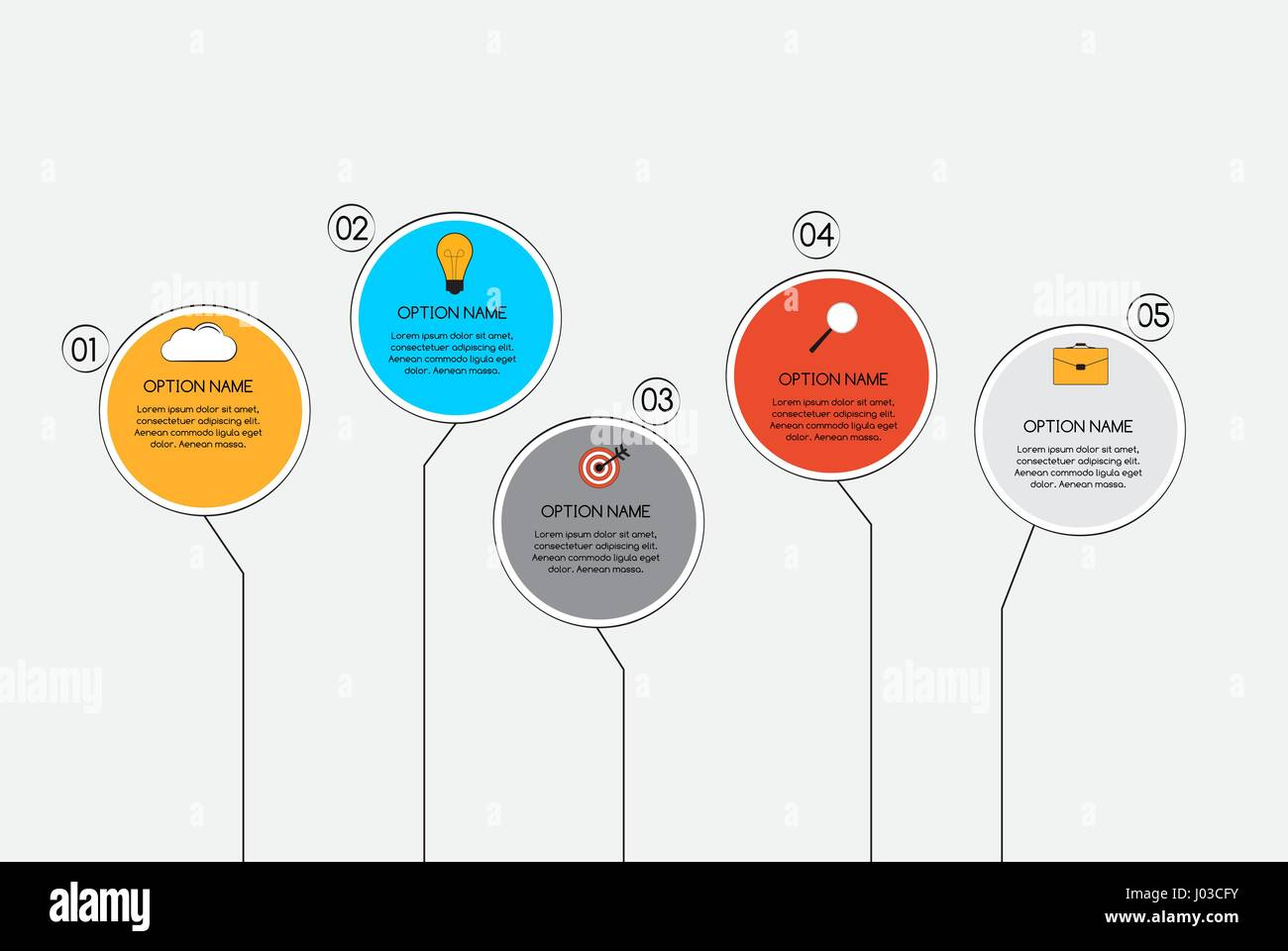 Infographic Templates for Business Vector Illustration - Stock Image