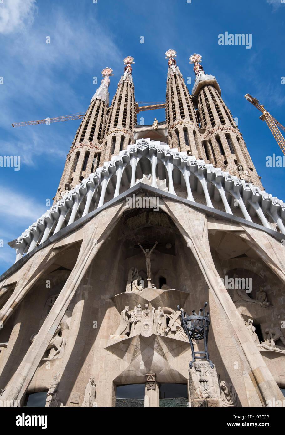 Spring at the Sagrada Familia, Barcelona Spain Europe EU - Stock Image
