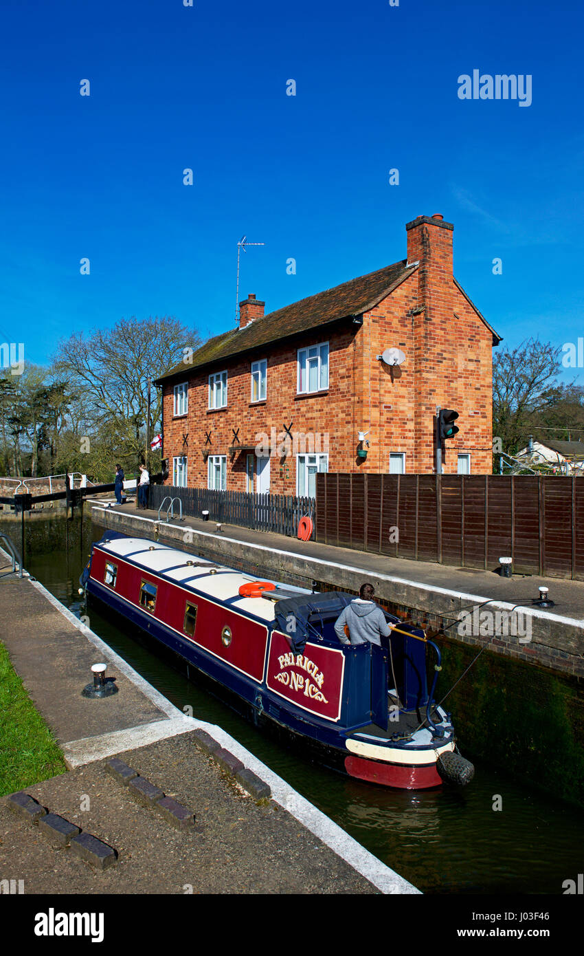 Lock on the River Soar at Barrow upon Soar, Leicestershire, England UK Stock Photo