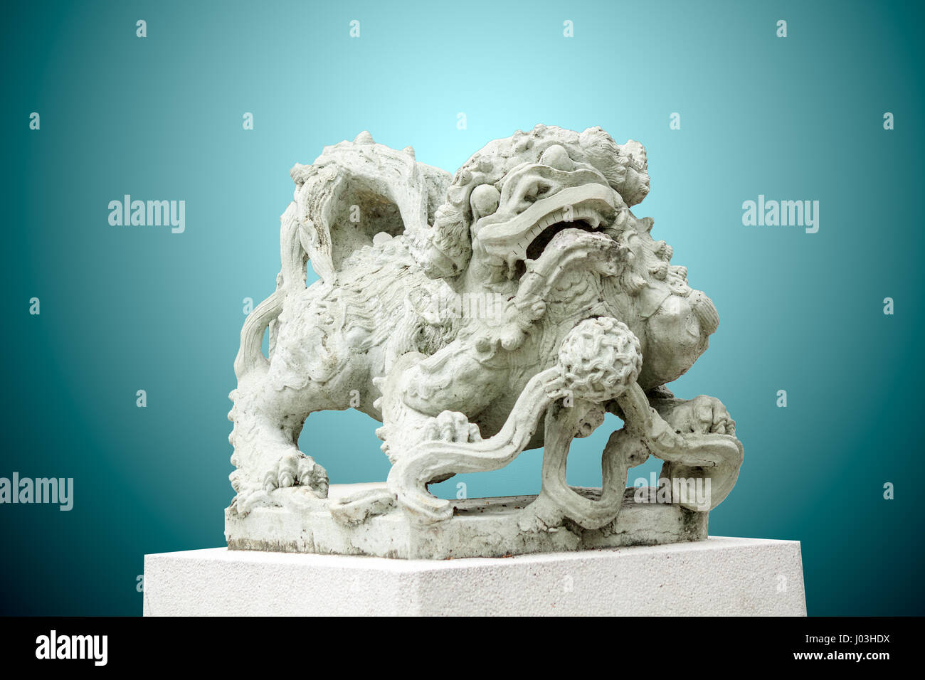 Chinese tiger statue stock photos