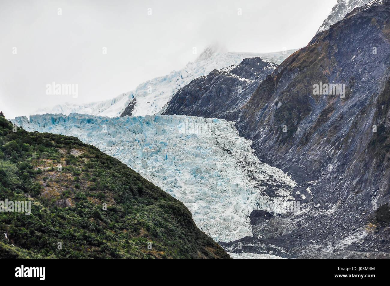Franz Josef Glacier in New Zealand - Stock Image