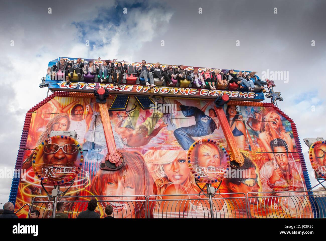 Faurground ride at Blackpool. - Stock Image