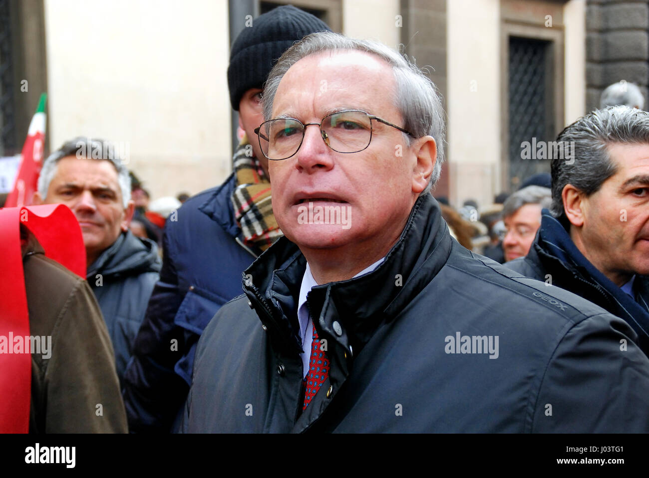Guglielmo Epifani (born 24 March 1950) is an Italian trade unionist and politician. From 2002 to 2010 he was the - Stock Image