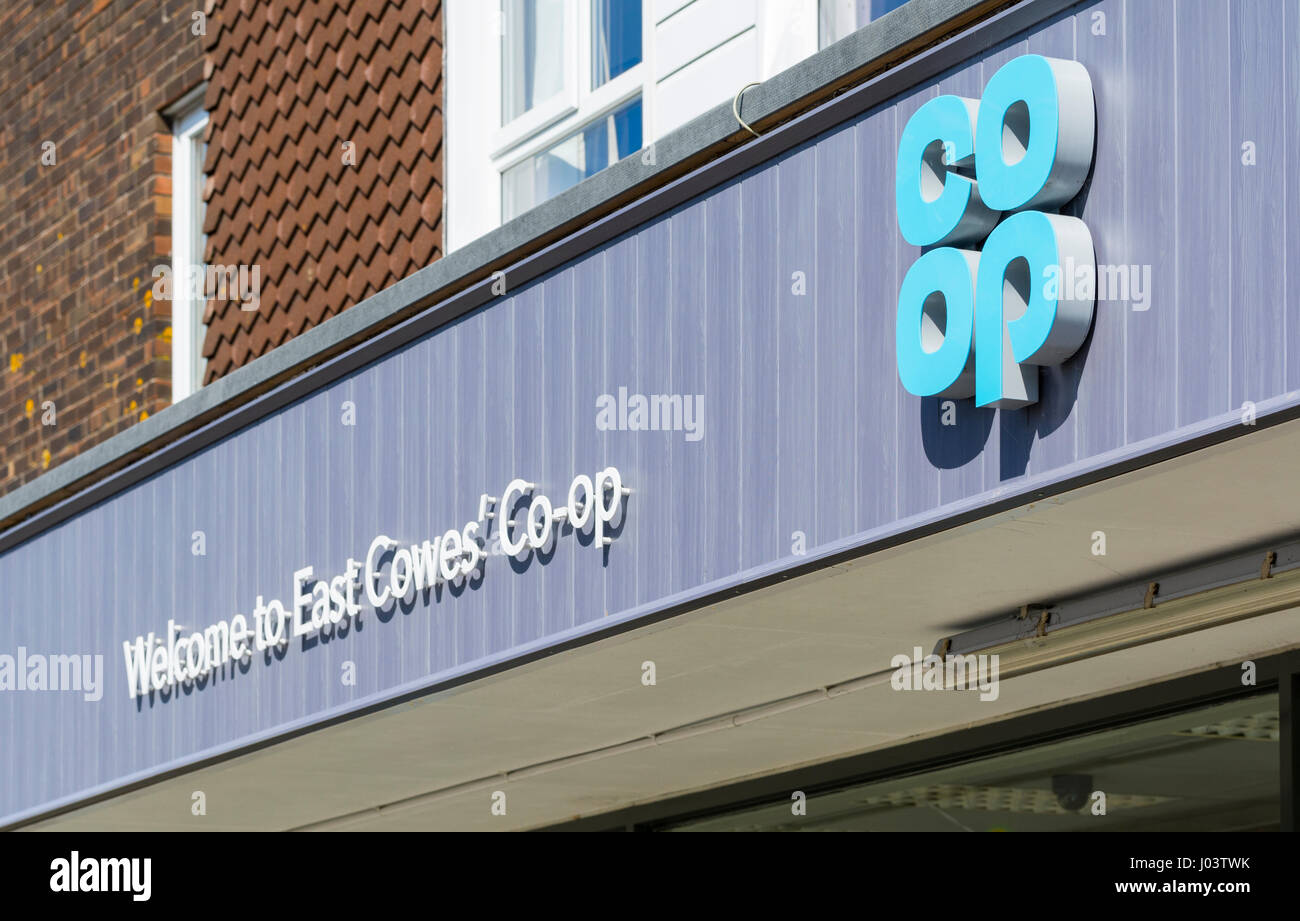 Co-op food store supermarket in the UK. - Stock Image