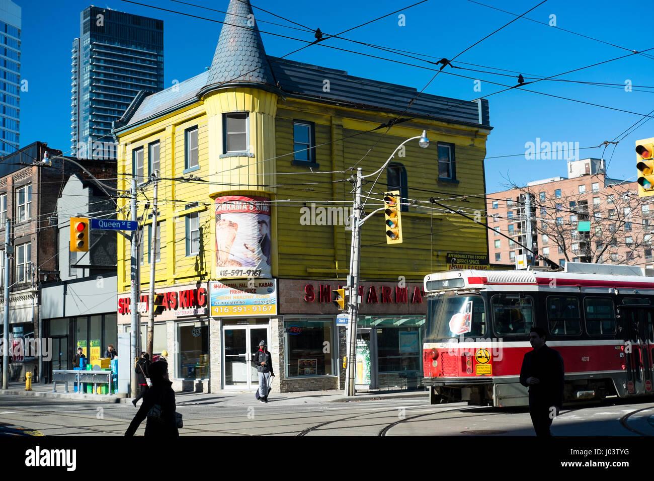 Toronto Queen Street Scene Stock Photos Amp Toronto Queen