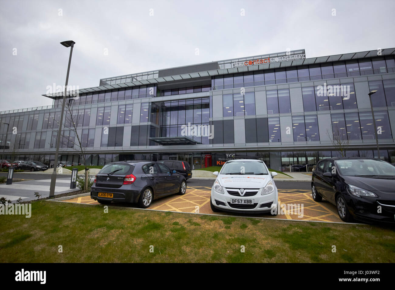 kingsgate the contact company call centre building wirral Liverpool UK - Stock Image