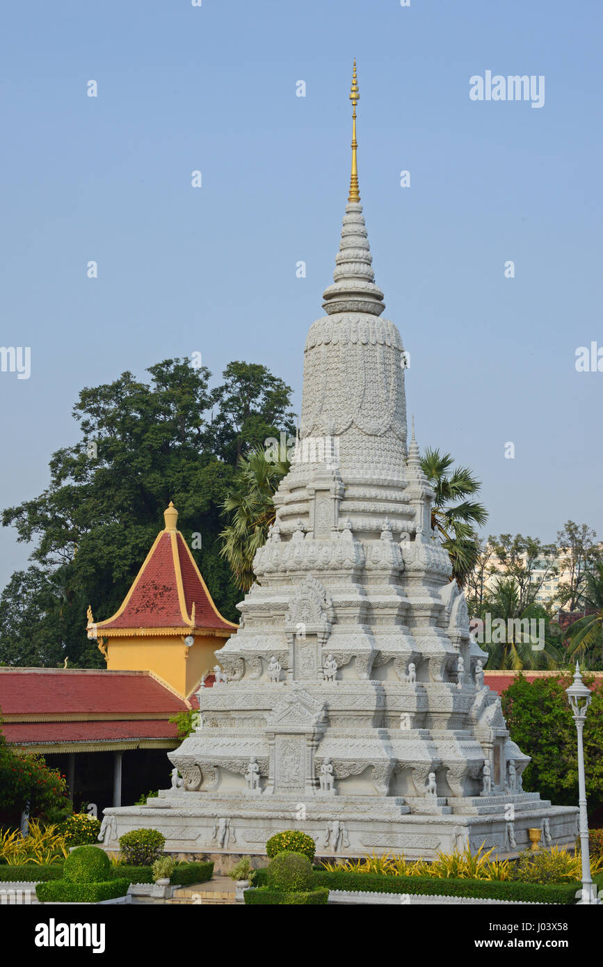 Royal Palace of Cambodia, Phnom Penh - Stock Image
