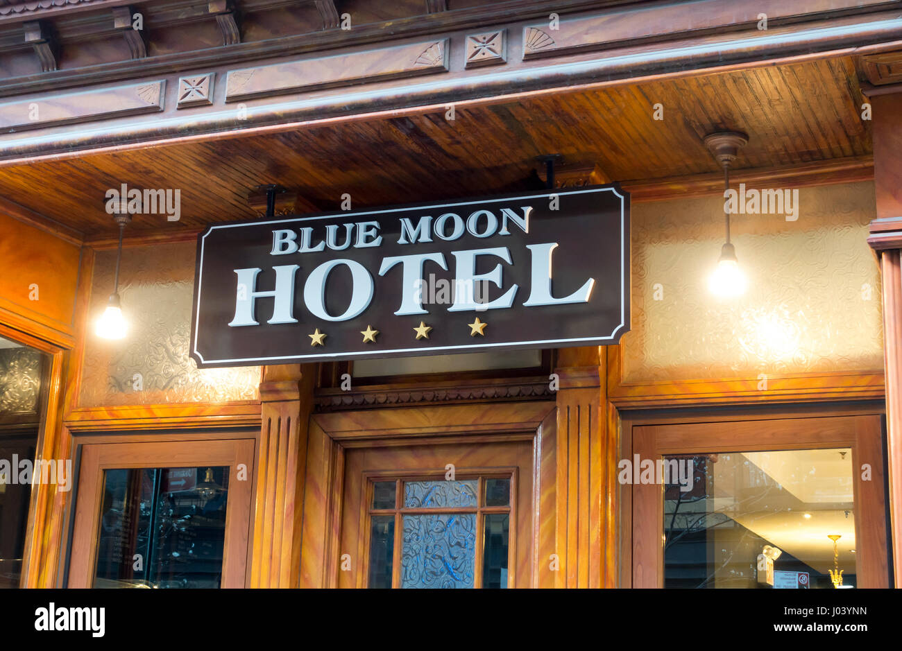 Blue Moon Boutique Hotel in the Lower East Side on Manhattan - Stock Image