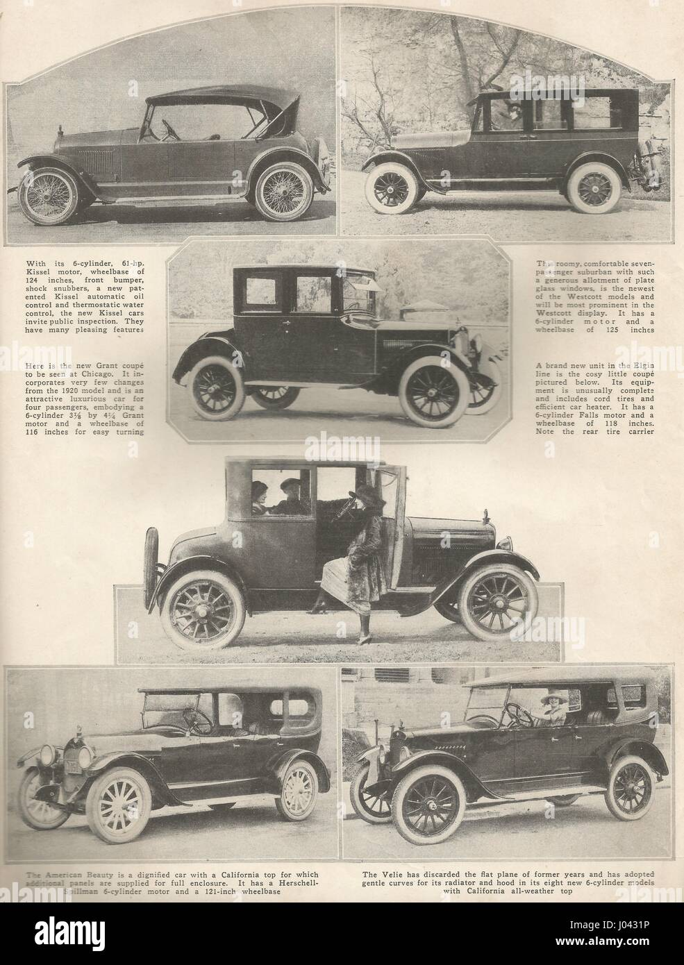 1921 Car Show. Chicago, Illinois. Features some of the earliest ...