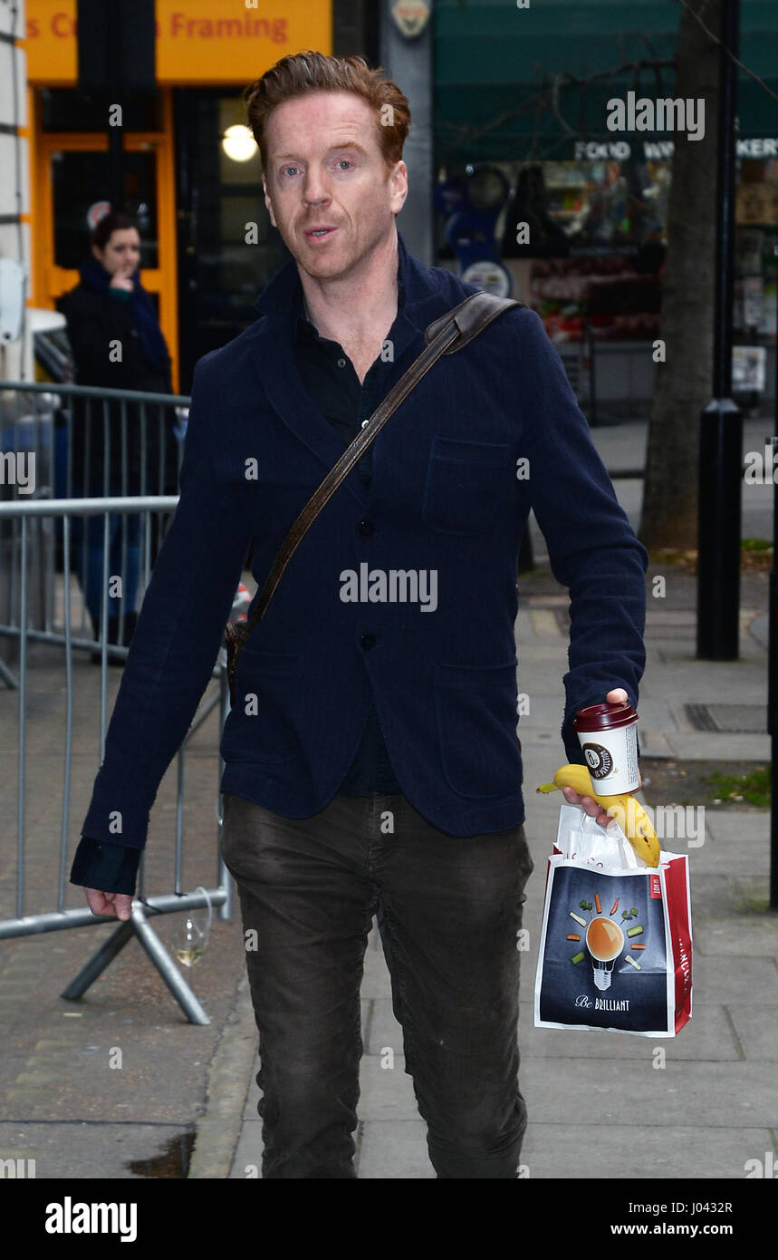 Damian Lewis arrives at BBC Radio 2  Featuring: Damian Lewis Where: London, United Kingdom When: 10 Mar 2017 - Stock Image