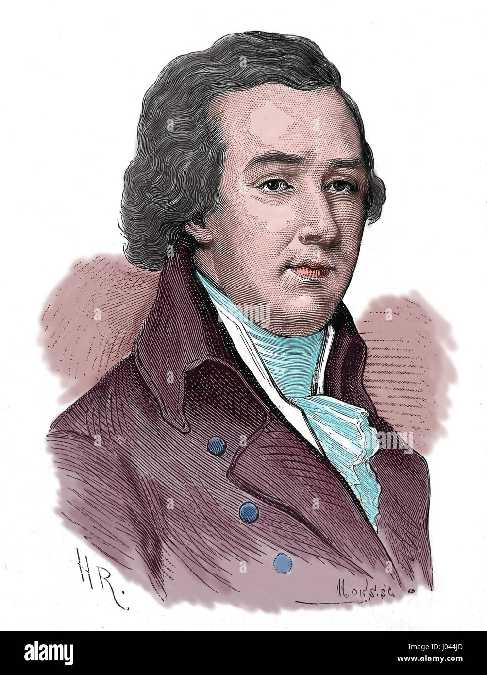 William Pitt the younger (1759-1806). British Prime Minister.  Engraving by Nuestro Siglo, 1883. Spanish edition - Stock Image