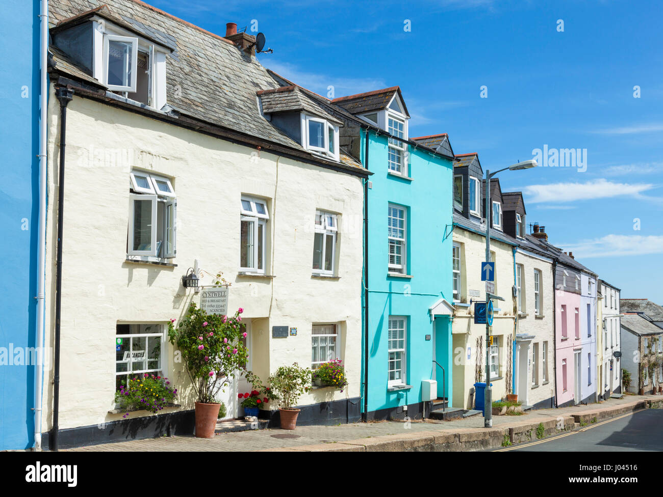Padstow Cornwall Holiday accomodation and self catering cottages in ther cornish village of Padstow Cornwall England - Stock Image