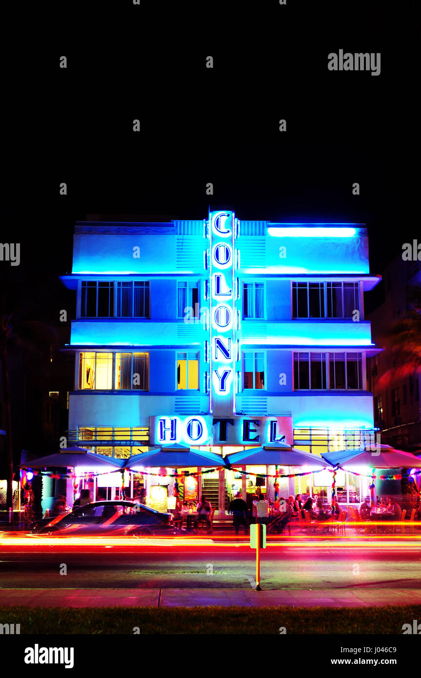 Colony Hotel, South Beach - Stock Image
