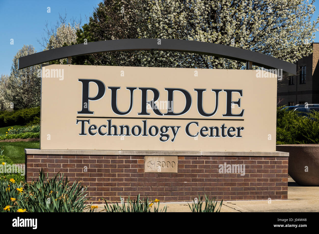 West Lafayette - Circa April 2017: Purdue Technology Center. This facility is the original incubator of Purdue Research - Stock Image