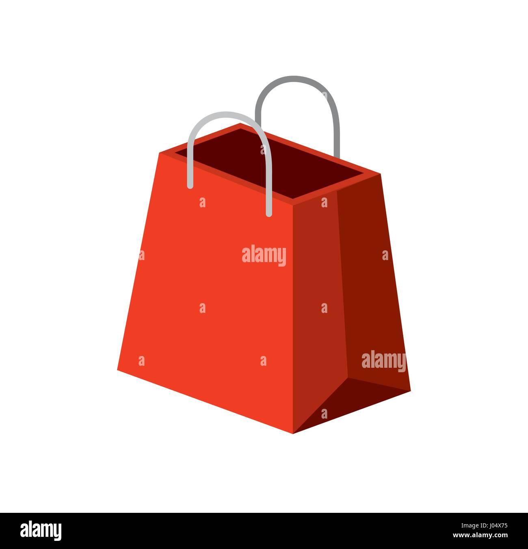 Shopping isometric design - Stock Image